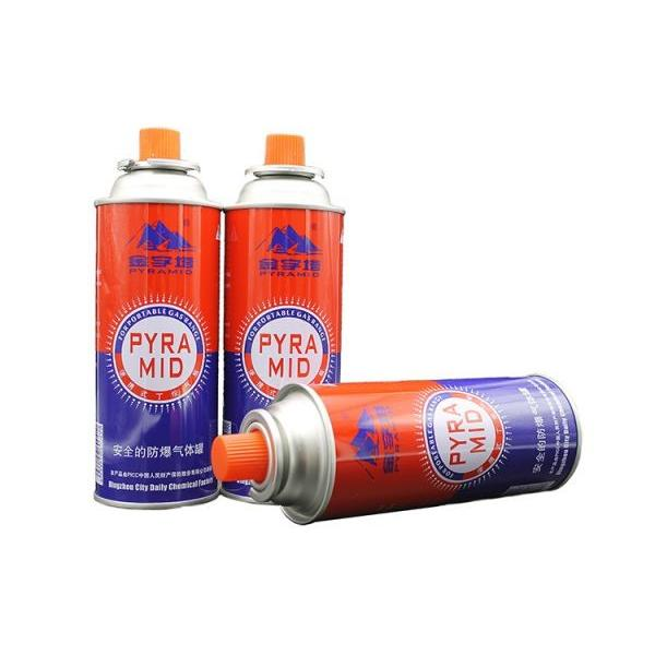 empty 220gr butane gas cartridge and camping gas butane canister refill for camp stove