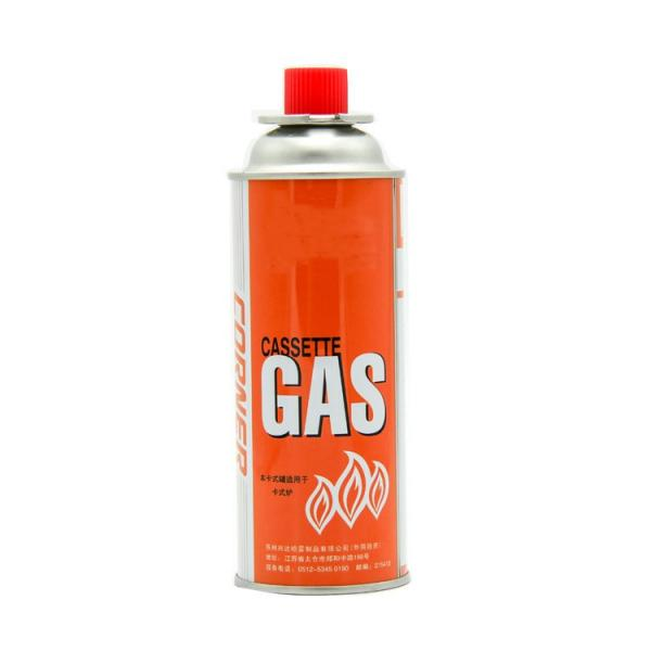220g~250g Butane Gas OEM logo printing aerosol portable butane gas cans with valve and cap
